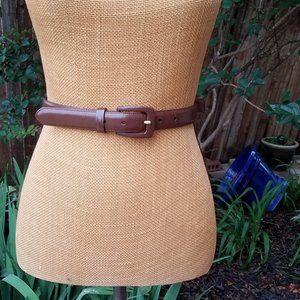 Talbots Medium Brown Leather Belt
